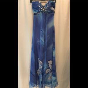 JOVANI strapless prom gown
